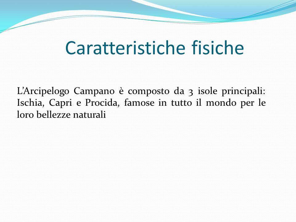 Caratteristiche fisiche LArcipelogo Campano è composto da 3 isole principali: Ischia, Capri e Procida, famose in tutto il mondo per le loro bellezze n