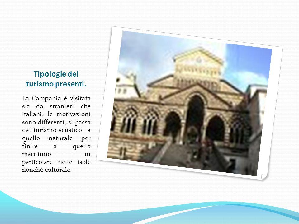 Tipologie del turismo presenti. La Campania è visitata sia da stranieri che italiani, le motivazioni sono differenti, si passa dal turismo sciistico a