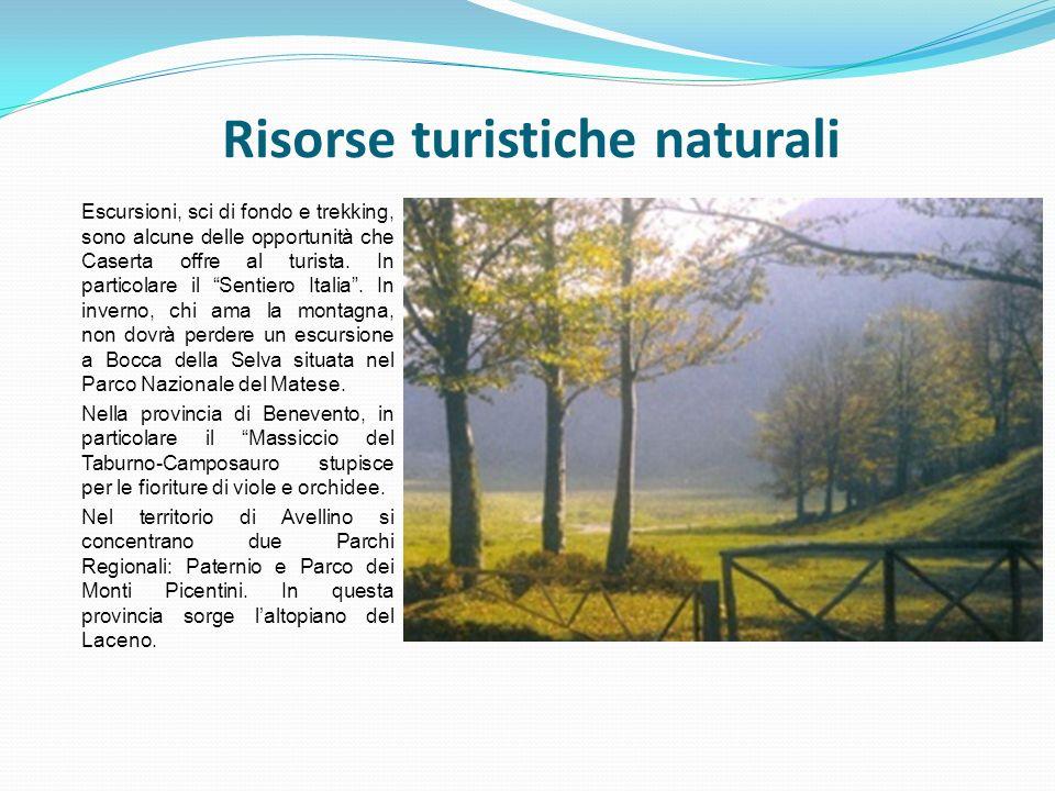 Escursioni, sci di fondo e trekking, sono alcune delle opportunità che Caserta offre al turista. In particolare il Sentiero Italia. In inverno, chi am