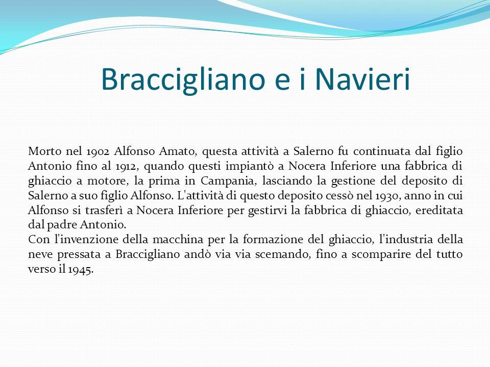 Braccigliano e i Navieri Morto nel 1902 Alfonso Amato, questa attività a Salerno fu continuata dal figlio Antonio fino al 1912, quando questi impiantò