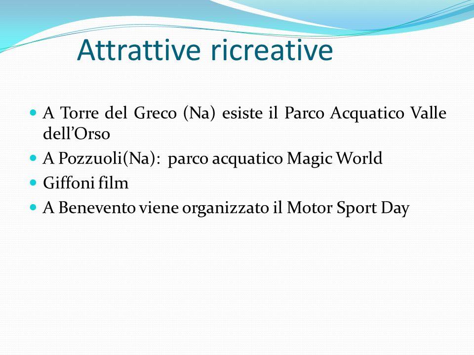 Attrattive ricreative A Torre del Greco (Na) esiste il Parco Acquatico Valle dellOrso A Pozzuoli(Na): parco acquatico Magic World Giffoni film A Benev