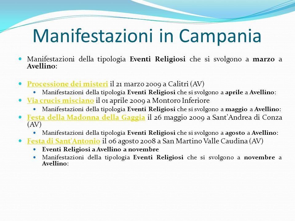 Manifestazioni in Campania Manifestazioni della tipologia Eventi Religiosi che si svolgono a marzo a Avellino: Processione dei misteri il 21 marzo 200