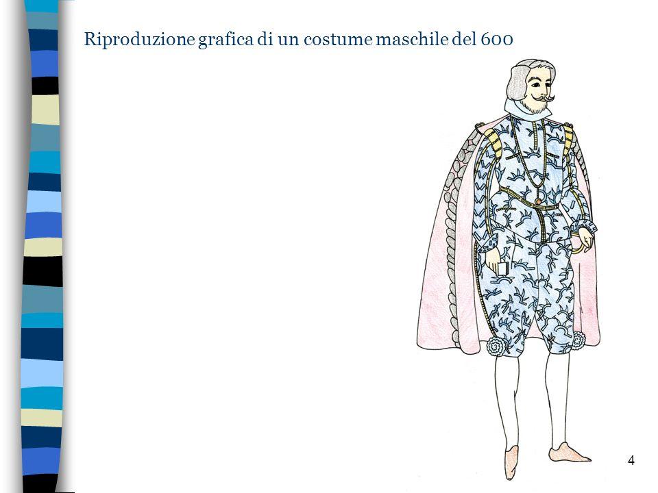 4 Riproduzione grafica di un costume maschile del 600