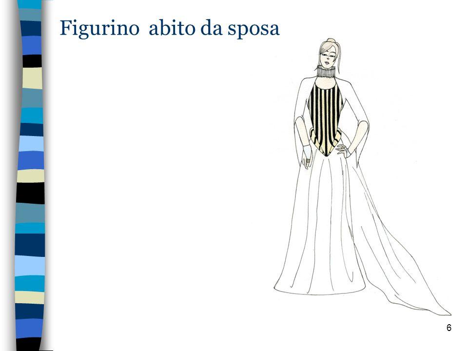 6 Figurino abito da sposa