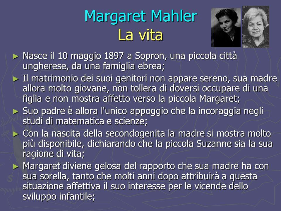 Margaret Mahler La vita Nel settembre 1916 Margaret si iscrive all Università di Budapest per studiare Storia dellarte e diventare scultrice, ma dopo aver constatato il suo scarso talento, nel gennaio 1917 decide di iscriversi a medicina.