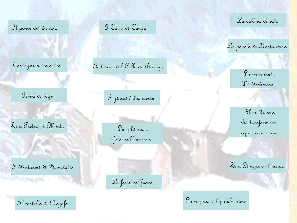 San Giorgio e il drago I giorni della merla Castagne a tre a tre I Corni di Canzo La gibiana e i falò dellinverno Le feste del fuoco I Fantasmi di Fiu