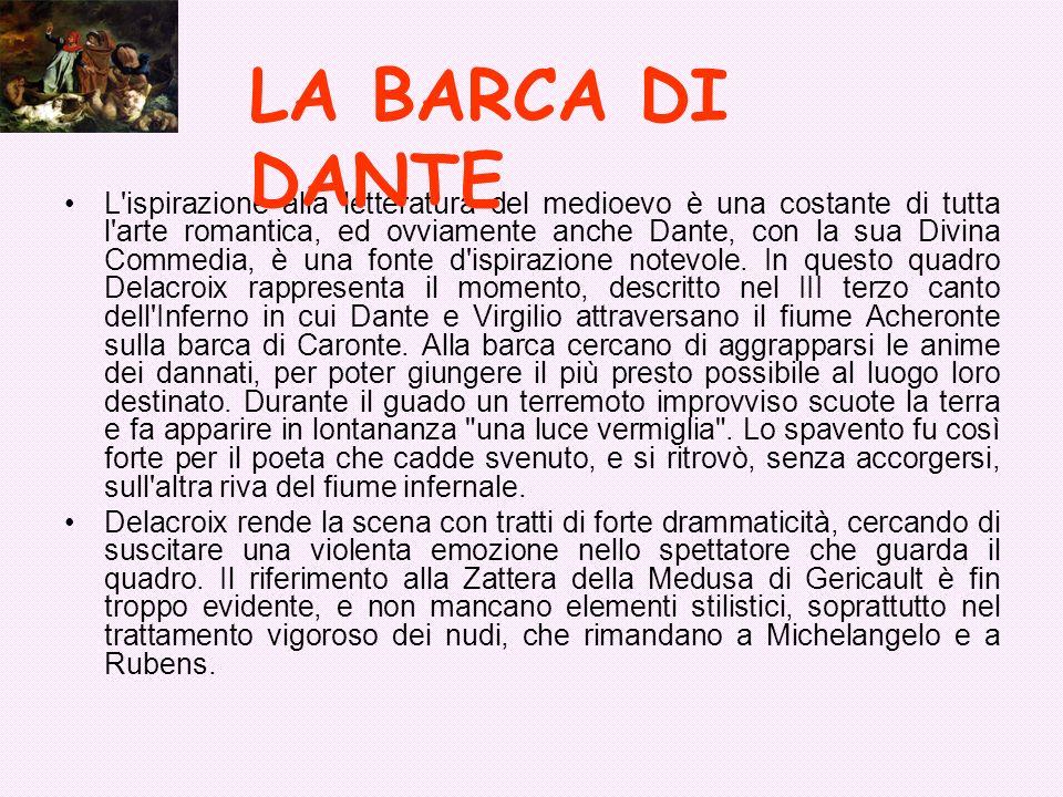 L'ispirazione alla letteratura del medioevo è una costante di tutta l'arte romantica, ed ovviamente anche Dante, con la sua Divina Commedia, è una fon