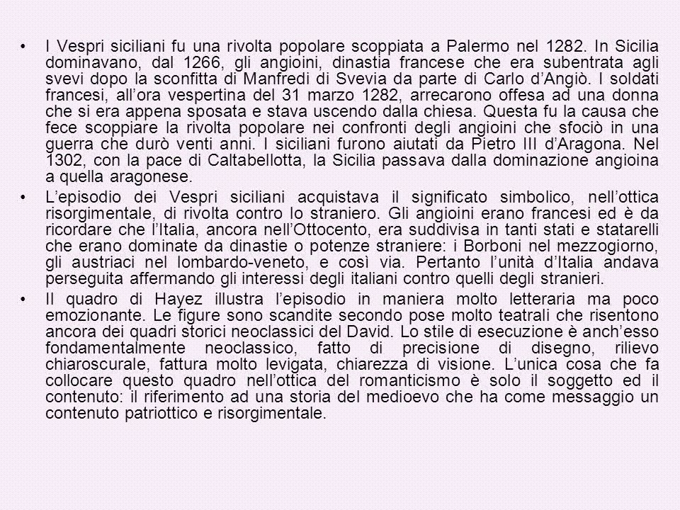 I Vespri siciliani fu una rivolta popolare scoppiata a Palermo nel 1282. In Sicilia dominavano, dal 1266, gli angioini, dinastia francese che era sube