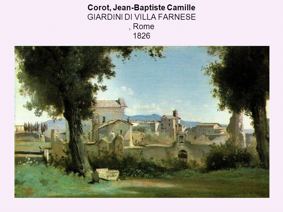 Corot, Jean-Baptiste Camille GIARDINI DI VILLA FARNESE, Rome 1826
