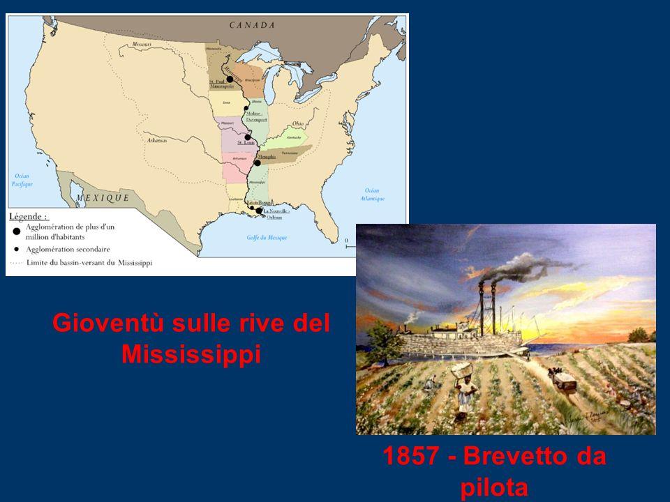 1857 - Brevetto da pilota Gioventù sulle rive del Mississippi