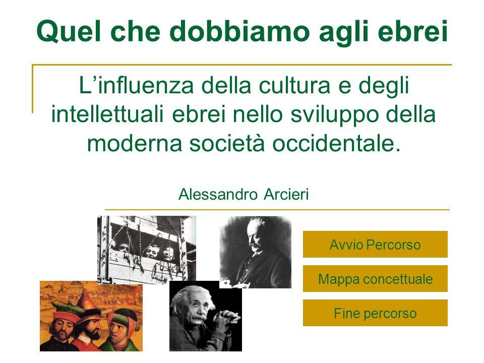 Quel che dobbiamo agli ebrei Linfluenza della cultura e degli intellettuali ebrei nello sviluppo della moderna società occidentale. Alessandro Arcieri