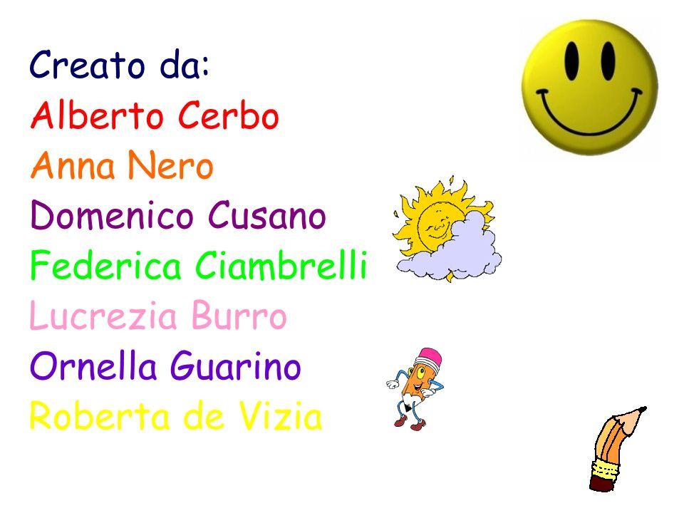 Creato da: Alberto Cerbo Anna Nero Domenico Cusano Federica Ciambrelli Lucrezia Burro Ornella Guarino Roberta de Vizia
