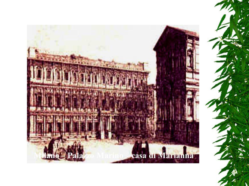 Alla morte del banchiere il palazzo fu diviso in quartieri e la coppia andò a vivere in quello allangolo tra piazza san Fedele e via Caserotte formato