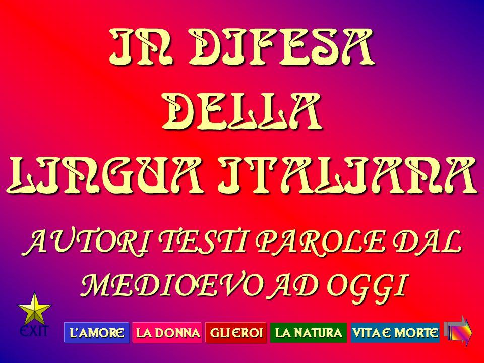 IN Difesa della lingua italianaIN Difesa della lingua italianaIN Difesa della lingua italianaIN Difesa della lingua italiana