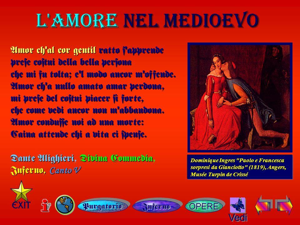 Canto V Canto V OPERE L AMORE L AMORE NEL MEDIOEVO Vedi Dominique Ingres Paolo e Francesca sorpresi da Gianciotto (1819), Angers, Musée Turpin de Crissé