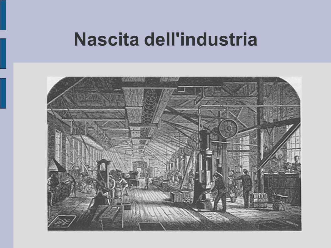Nascita dell'industria