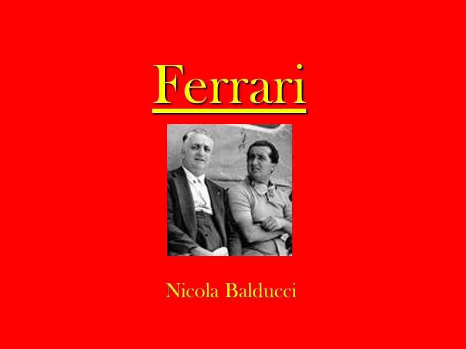 Ferrari 330 P4 Motore: 12 cilindri a V (60°) Velocità massima – 320 km/h Tre Ferrari 330 P4 finirono ai primi tre posti alla 24 ore di Daytona nel 1967.