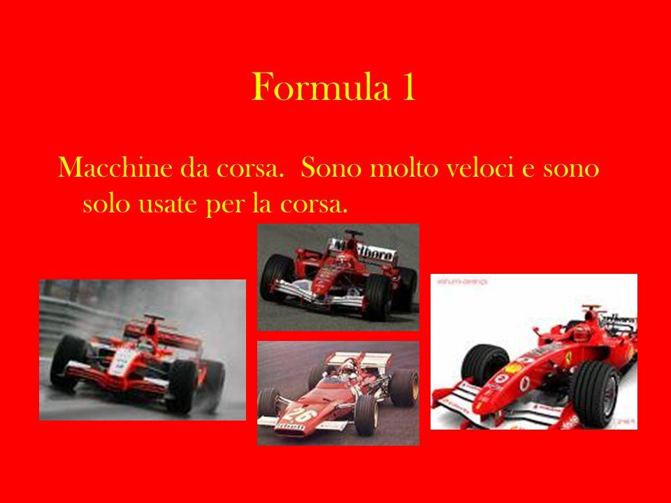 Ferrari 125 F1 Motore: 12 cilindri a V (60°) Velocità massima – 260 km/h Prima F1 Ferrari nel 1948.