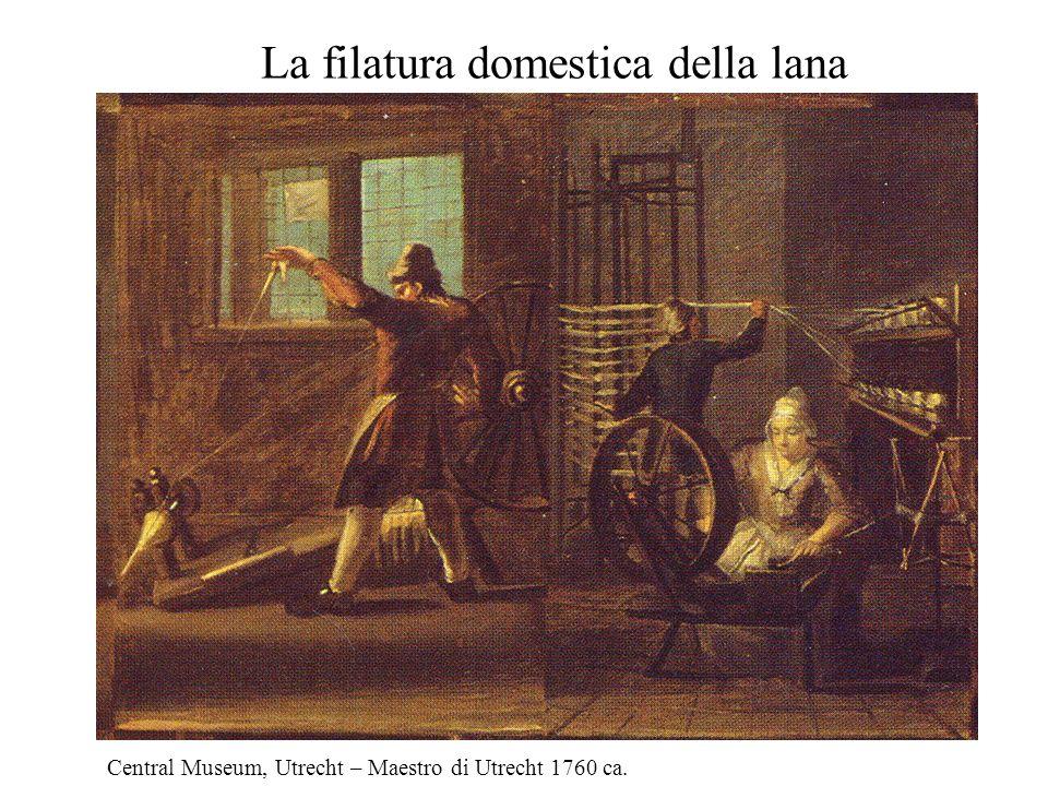 La filatura domestica della lana Central Museum, Utrecht – Maestro di Utrecht 1760 ca.