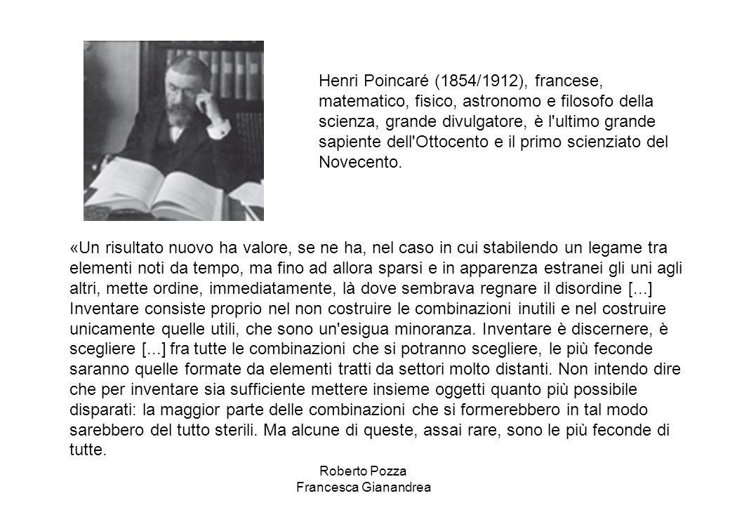 Henri Poincaré (1854/1912), francese, matematico, fisico, astronomo e filosofo della scienza, grande divulgatore, è l'ultimo grande sapiente dell'Otto