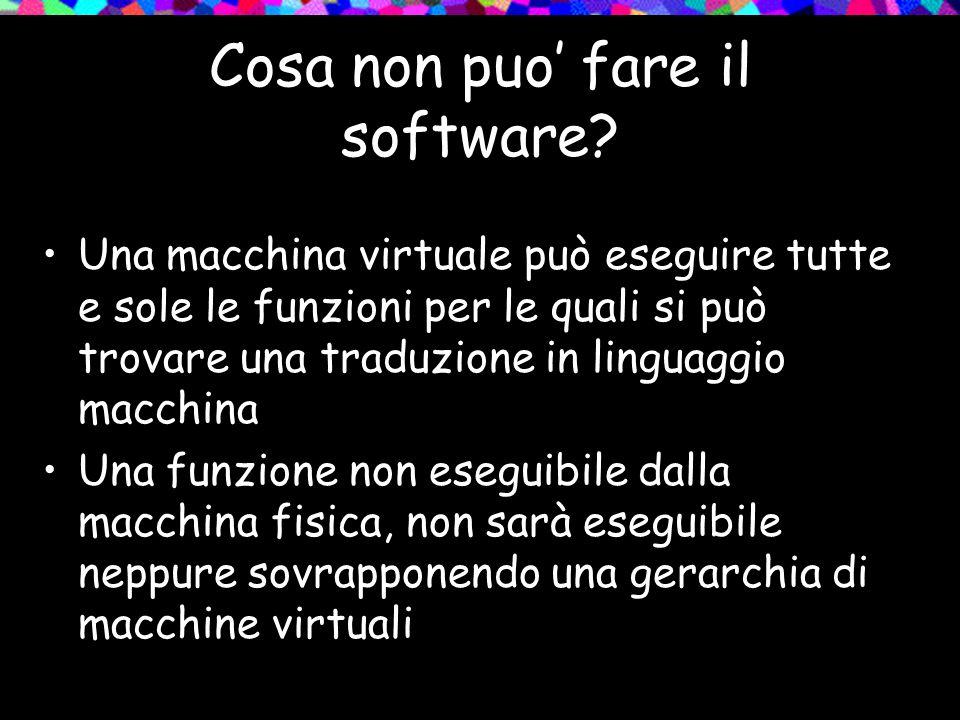 Cosa non puo fare il software.