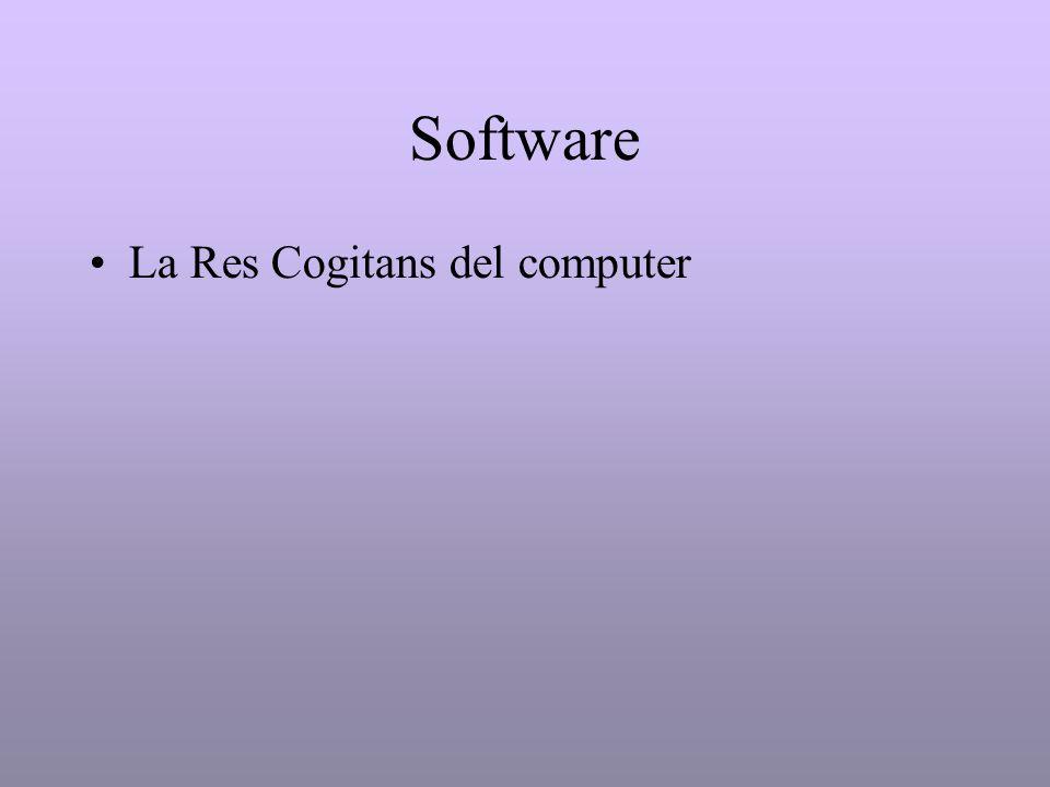 Software La Res Cogitans del computer