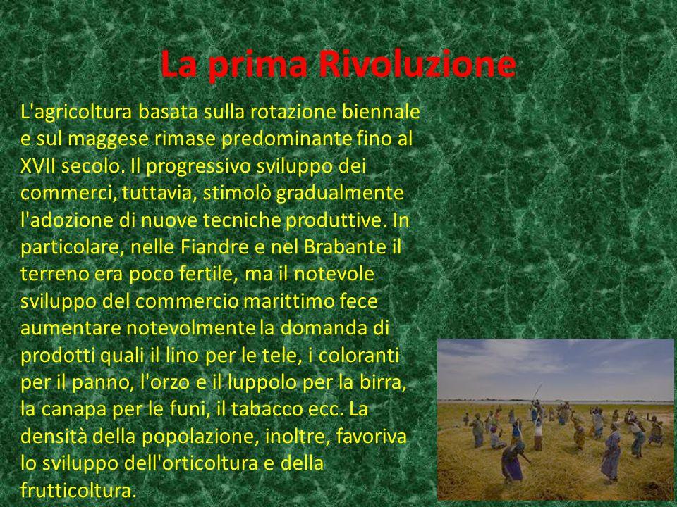 La prima Rivoluzione L agricoltura basata sulla rotazione biennale e sul maggese rimase predominante fino al XVII secolo.