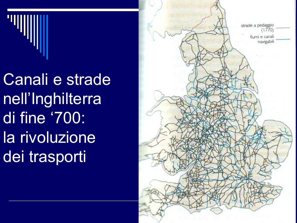Canali e strade nellInghilterra di fine 700: la rivoluzione dei trasporti