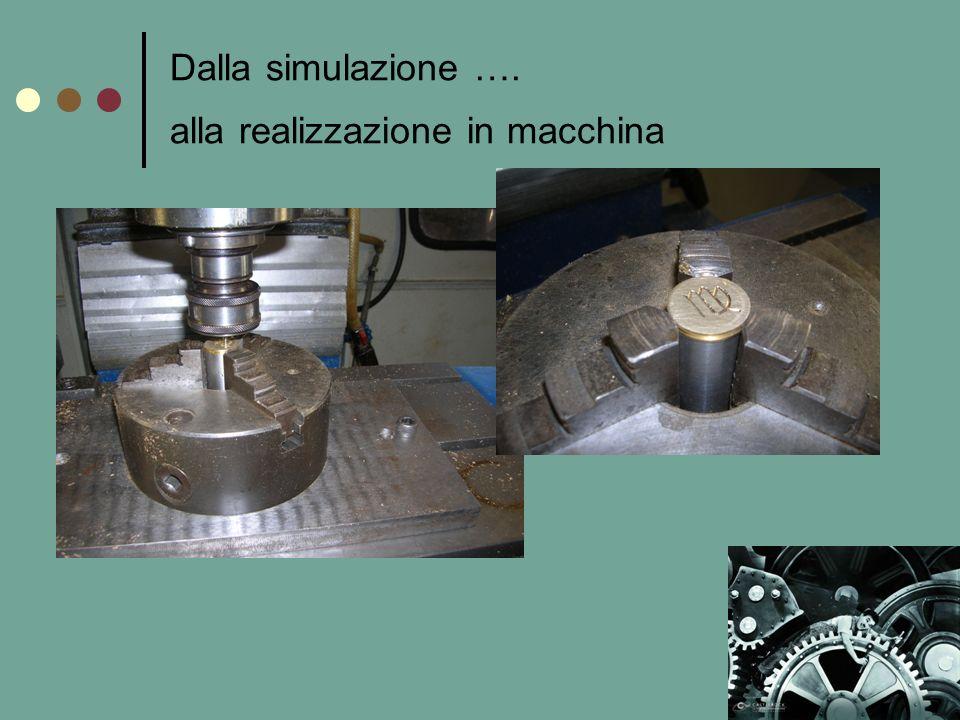 Dalla simulazione …. alla realizzazione in macchina