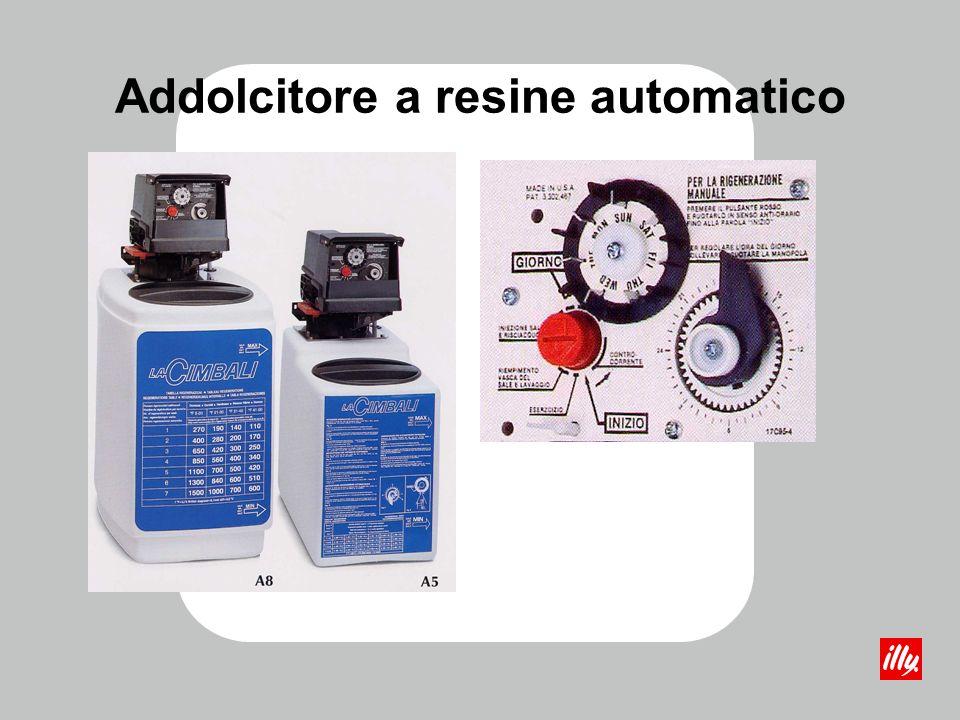 A cartuccia (sostituzione) A resine: -manuale -automatico Magnetico Osmosi inversa Gli Addolcitori