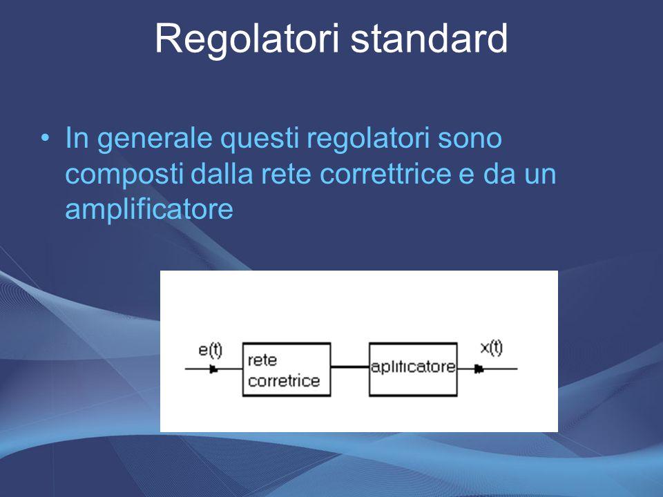In generale questi regolatori sono composti dalla rete correttrice e da un amplificatore