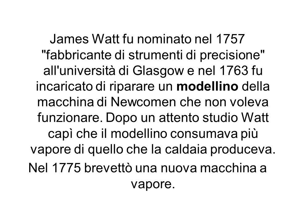 James Watt fu nominato nel 1757