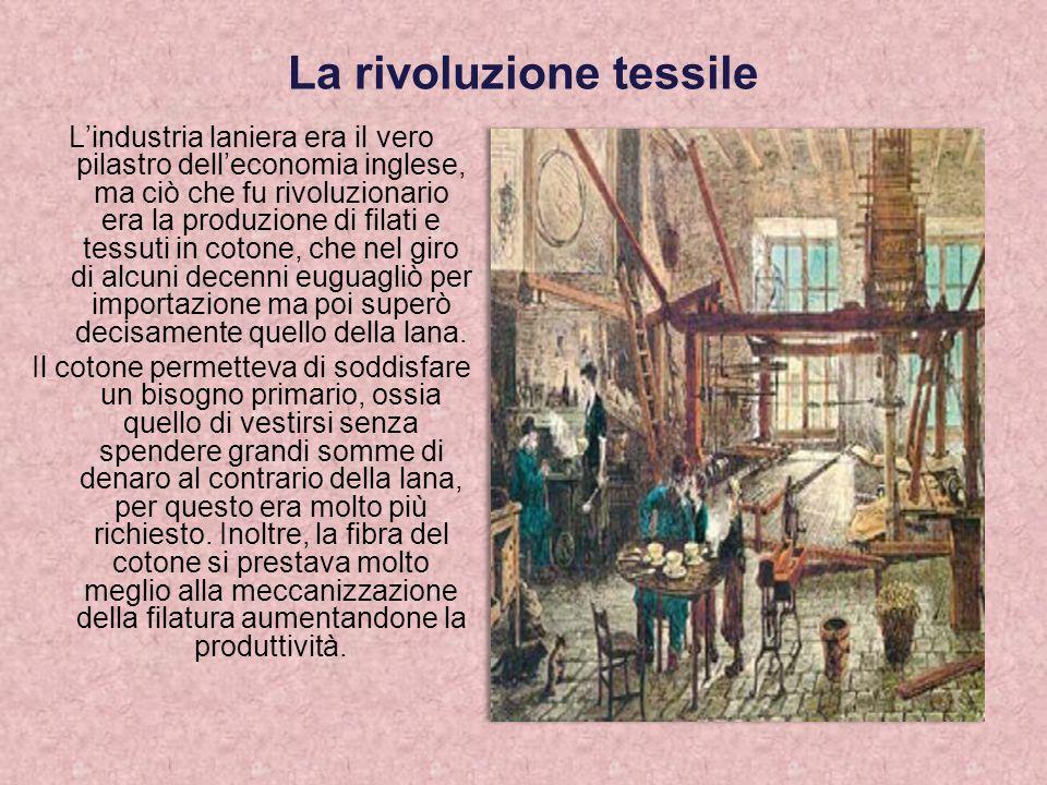 Il sistema del lavoro a domicilio La maggior parte della produzione tessile era legata al lavoro a domicilio svolto dai contadini nei periodi di minore attività agricola.