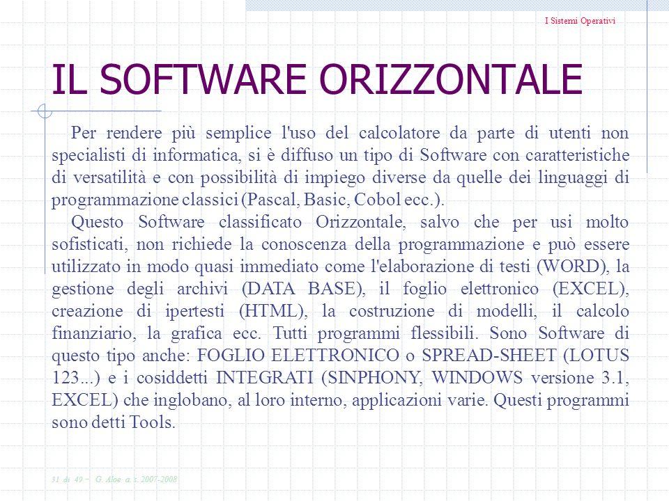 I Sistemi Operativi 31 di 49 - G.Aloe a. s.