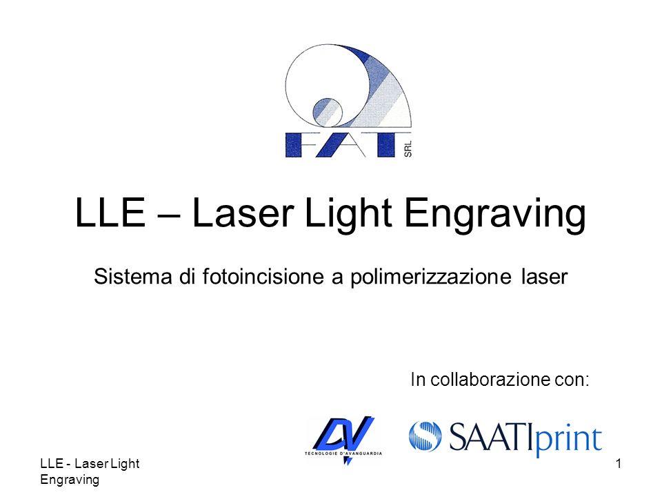 LLE - Laser Light Engraving 1 LLE – Laser Light Engraving Sistema di fotoincisione a polimerizzazione laser In collaborazione con: