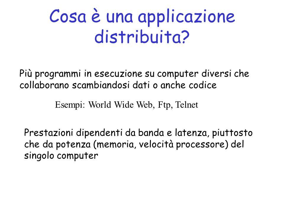 Cosa è una applicazione distribuita.