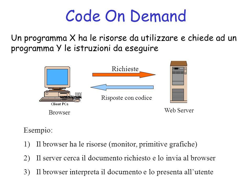 Agenti Mobili Un programma X si trasferisce su un altro computer con i suoi dati e continua la sua esecuzioni lì.