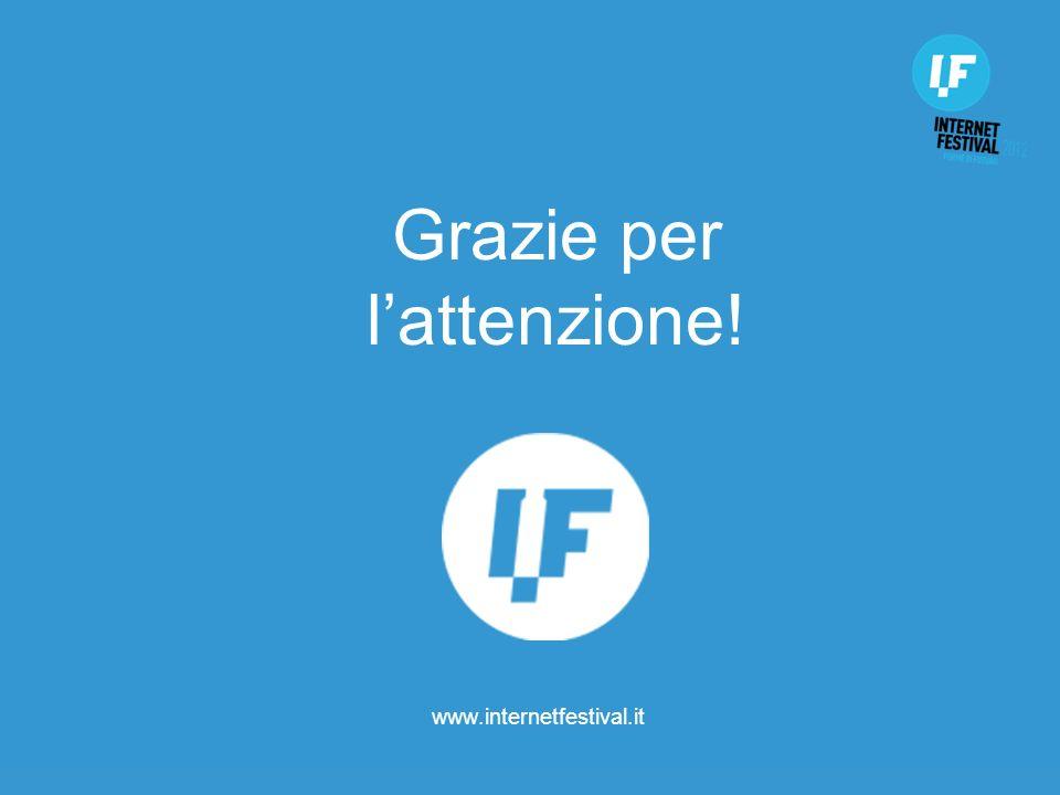 www.internetfestival.it Grazie per lattenzione!