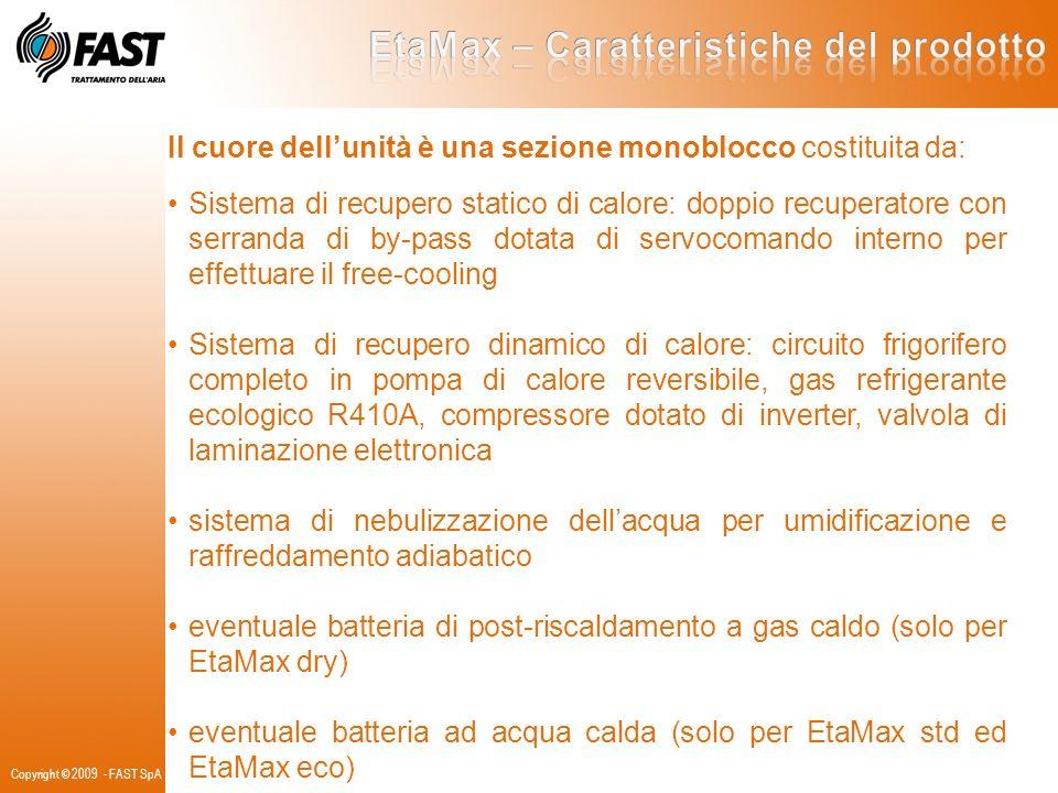Il cuore dellunità è una sezione monoblocco costituita da: Sistema di recupero statico di calore: doppio recuperatore con serranda di by-pass dotata d
