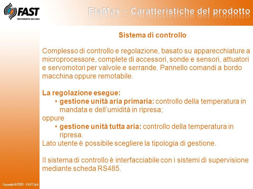 Sistema di controllo Complesso di controllo e regolazione, basato su apparecchiature a microprocessore, complete di accessori, sonde e sensori, attuat