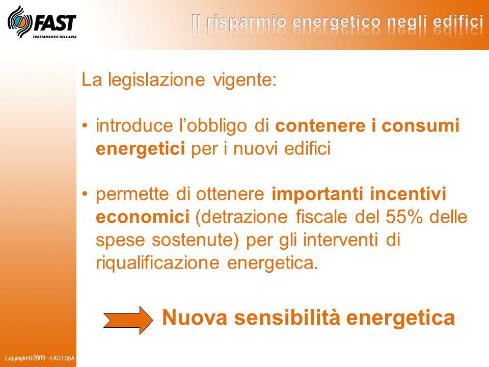 La legislazione vigente: introduce lobbligo di contenere i consumi energetici per i nuovi edifici permette di ottenere importanti incentivi economici