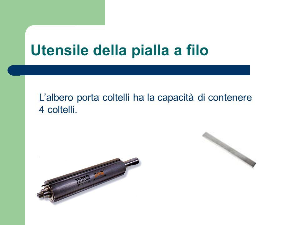 Utensile della pialla a filo Lalbero porta coltelli ha la capacità di contenere 4 coltelli.