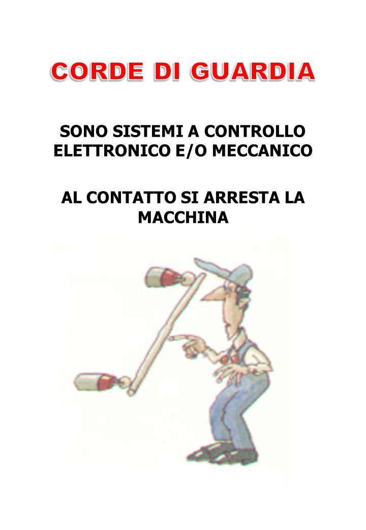 SONO SISTEMI A CONTROLLO ELETTRONICO E/O MECCANICO AL CONTATTO SI ARRESTA LA MACCHINA