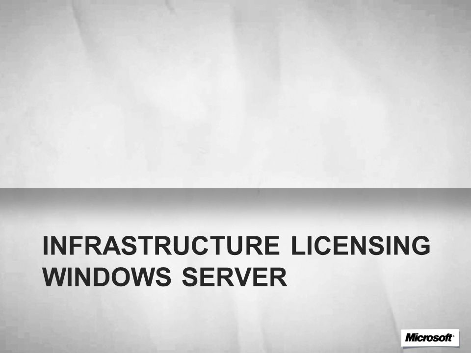 Licensing per le versioni di Windows Server Standard Edition: Server License + CALs Enterprise Edition: Server License + CALs Datacenter Edition: Processor Licenses + CALs CALs (Client Access Licenses) Richieste per laccesso al server Le CAL sono specifiche alla versione del server al quale si connettono (e.g.