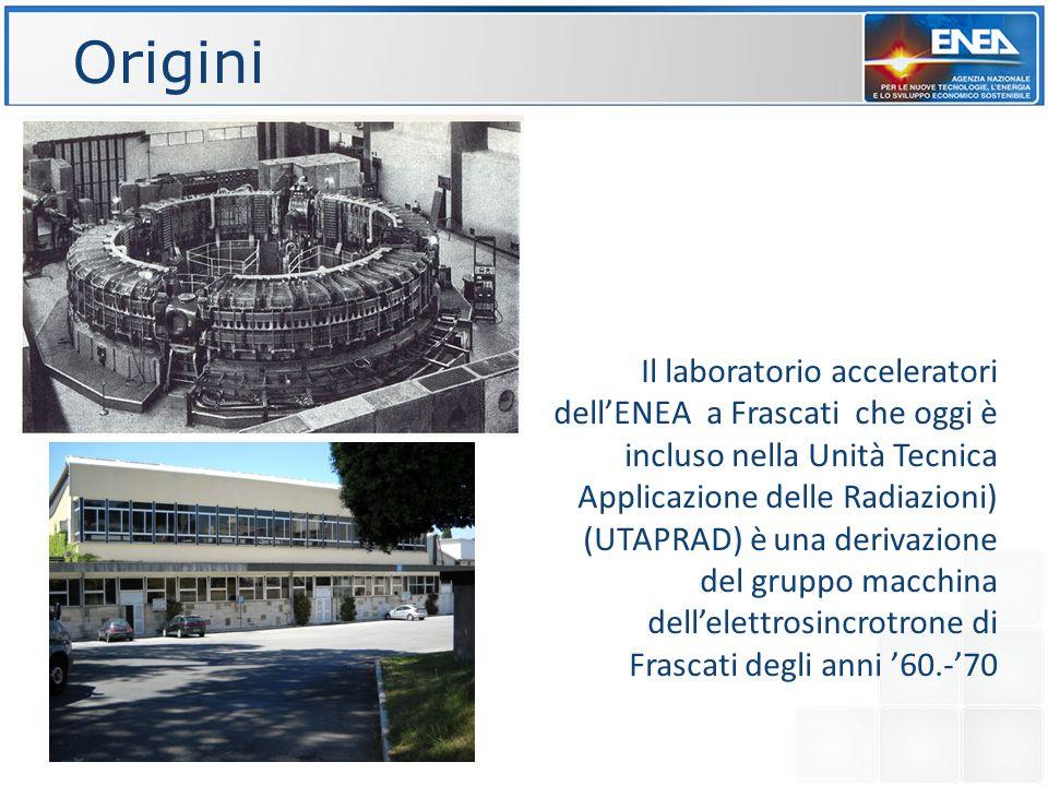 Il laboratorio acceleratori dellENEA a Frascati che oggi è incluso nella Unità Tecnica Applicazione delle Radiazioni) (UTAPRAD) è una derivazione del