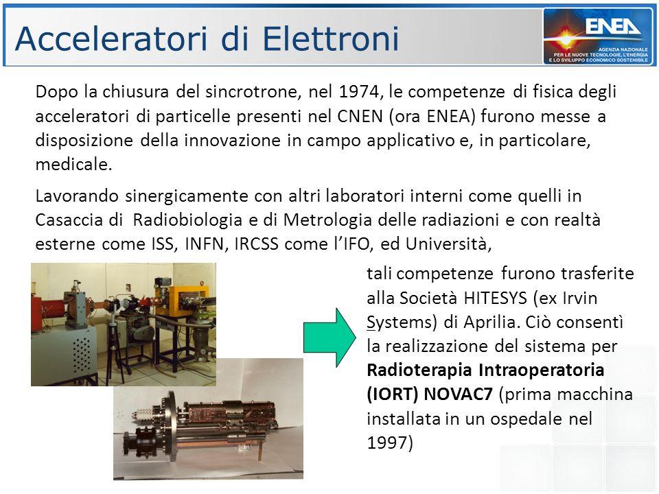 FASE 1 FASE 2 Obiettivo finale: realizzazione di un centro per protonterapia basato su un acceleratore lineare da 230 MeV Istituti coinvolti: ENEA ISS,IFO Industrie coinvolte: NRT,CECOM,ADAM,TSC Finanziamenti: finanziata fase 1 fino a 150 MeV (11 M tramite convenzione ENEA- Regione Lazio) Stima costo totale:45 M IL PROGETTO TOP- IMPLART FASE 1 FASE 2