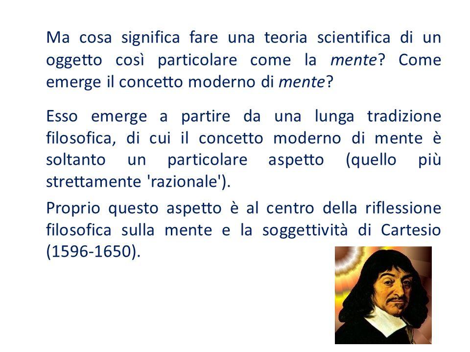 Proprio la riflessione filosofica cartesiana sulla mente e la soggettività pone una questione fondamentale per la moderna scienza cognitiva: il ruolo svolto dalla rivoluzione scientifica.