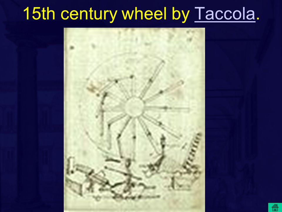 15th century wheel by Taccola.Taccola