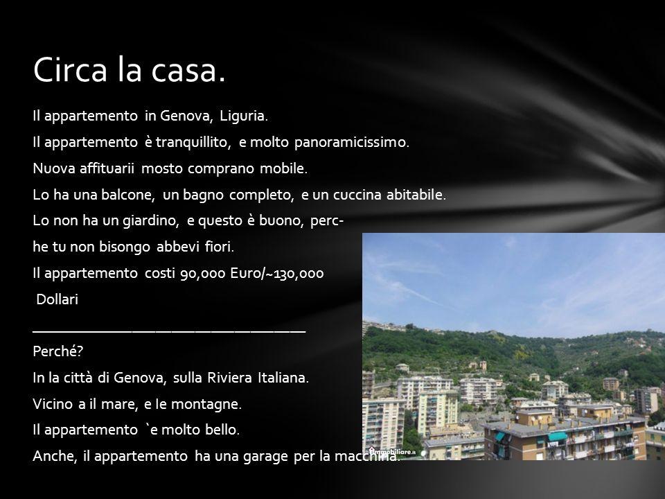 Il appartemento in Genova, Liguria. Il appartemento è tranquillito, e molto panoramicissimo. Nuova affituarii mosto comprano mobile. Lo ha una balcone