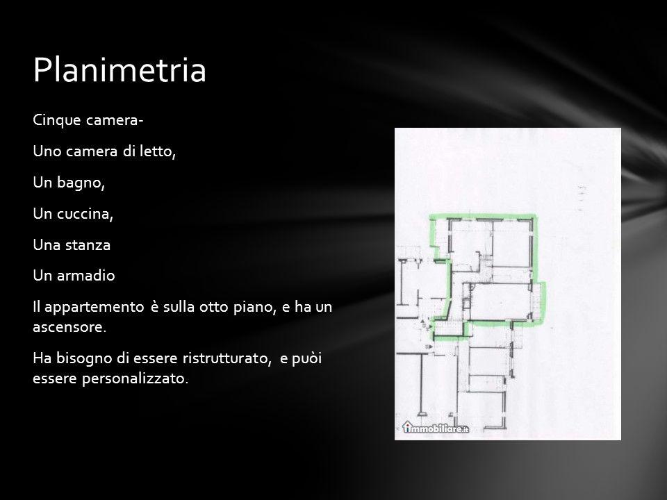 Cinque camera- Uno camera di letto, Un bagno, Un cuccina, Una stanza Un armadio Il appartemento è sulla otto piano, e ha un ascensore. Ha bisogno di e